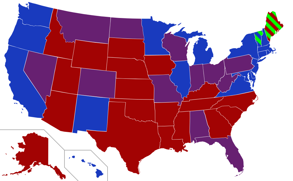 Party membership by state for the 115th Congress